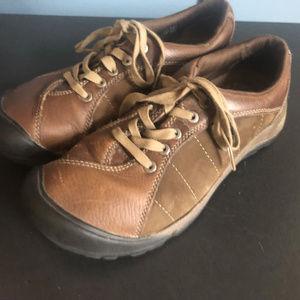 Keen Presidio Brown Suede Oxford Shoes 8